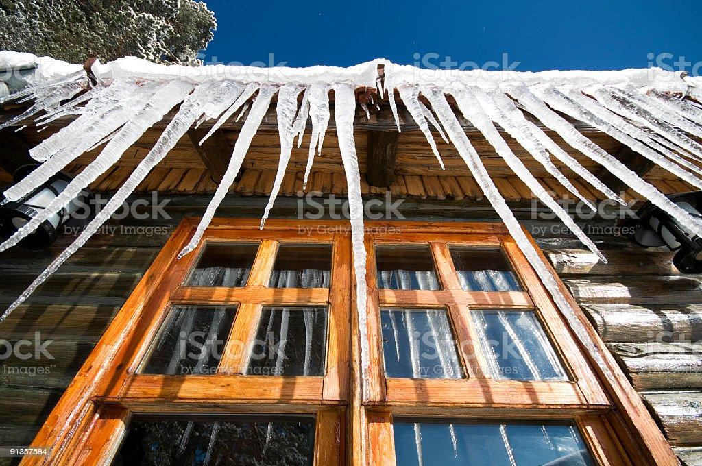 window cottage stock photo