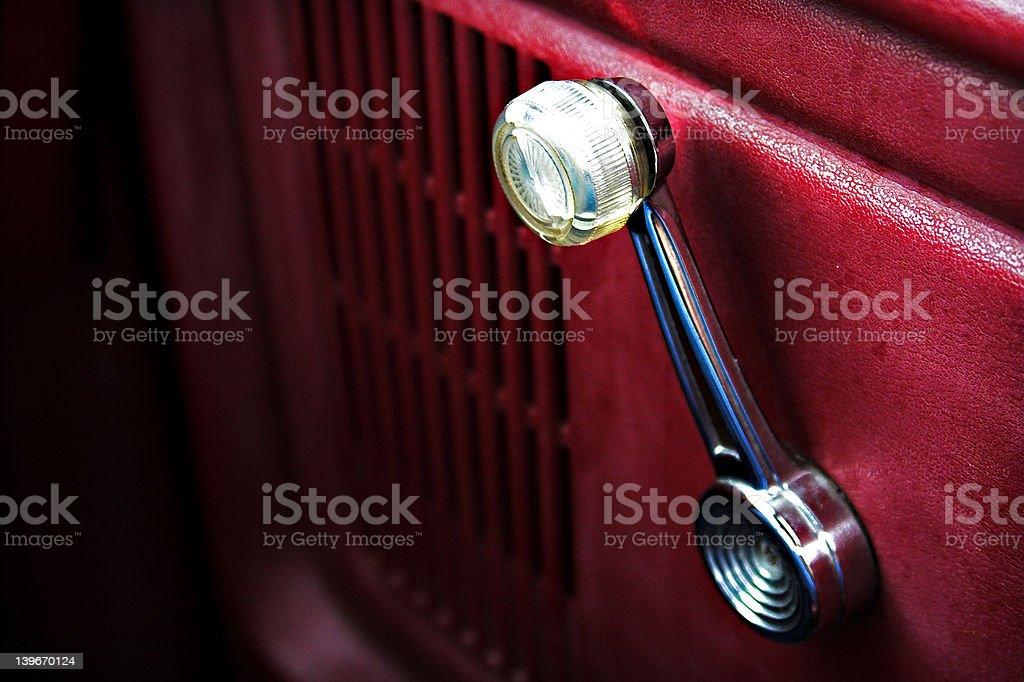 Window Crank stock photo