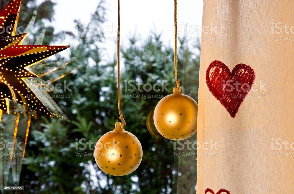 Window decorations stock photo