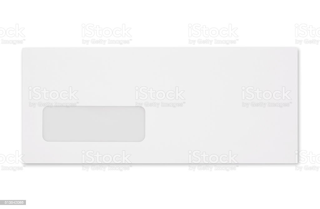 Window Envelope (with 2 paths) stock photo