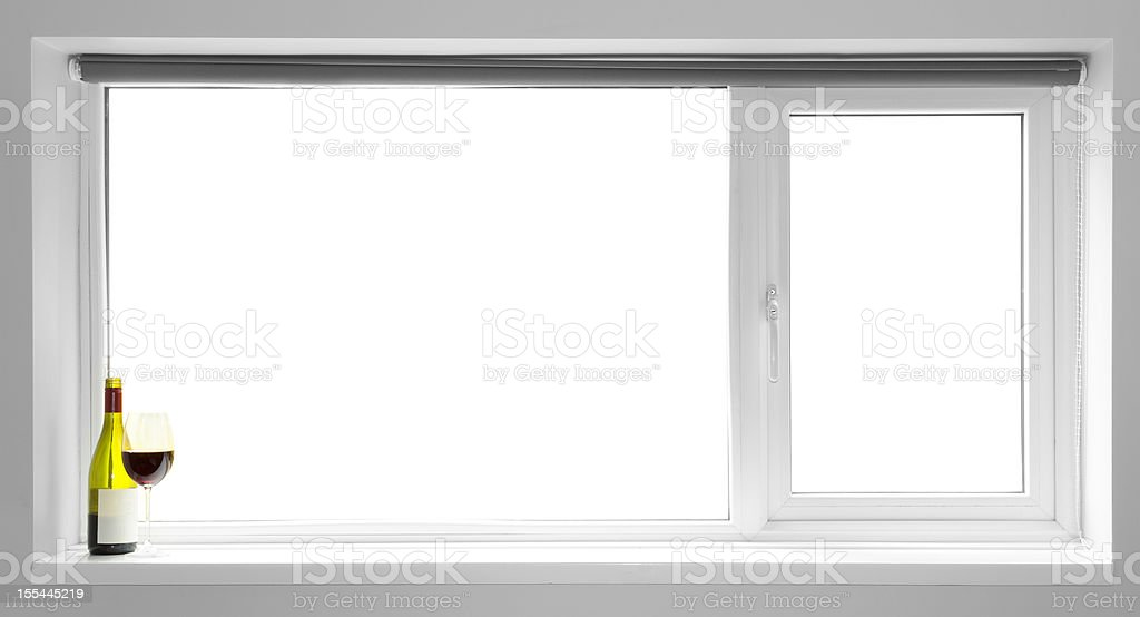 Window Frame:  Blank for your own image stock photo