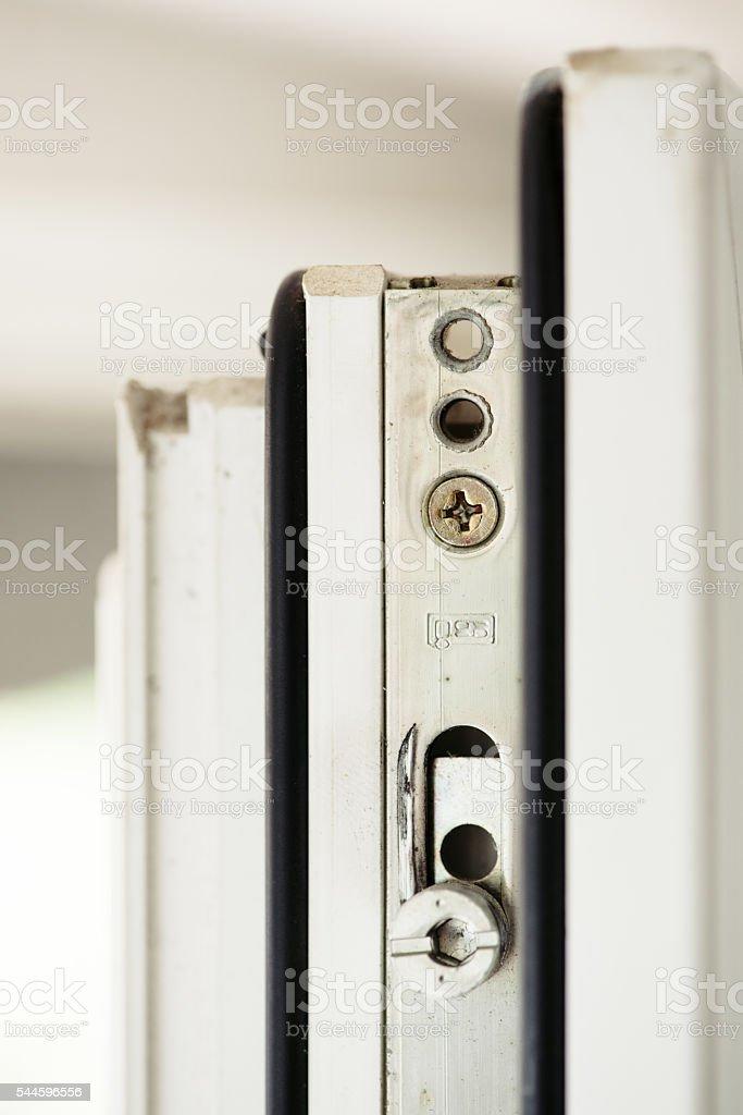 Window frame lock stock photo