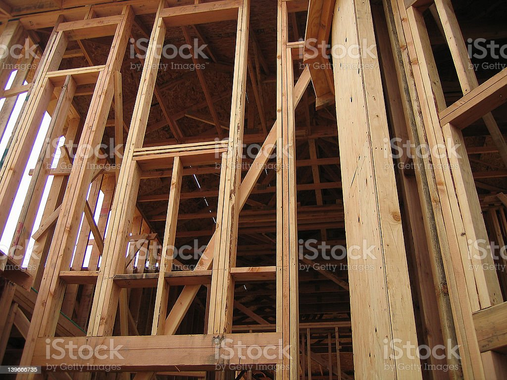 Window Frame New construction royalty-free stock photo