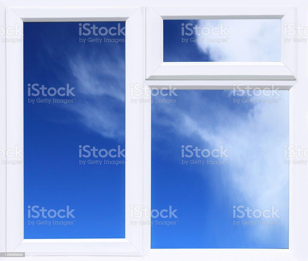 PVC Window Frame stock photo