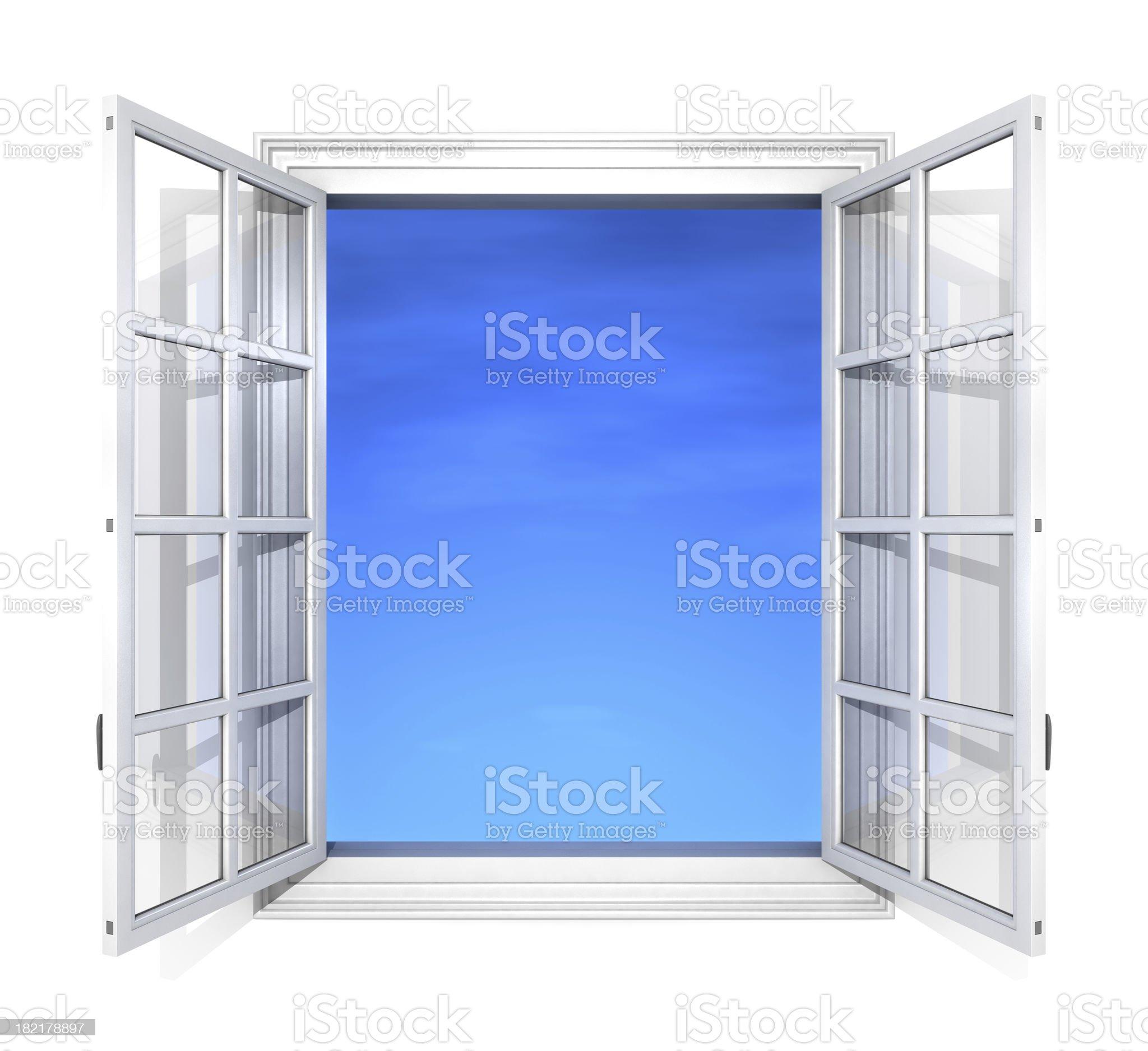 Window frame white royalty-free stock photo