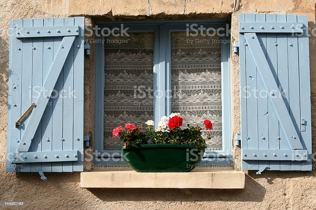 Window, France royalty-free stock photo