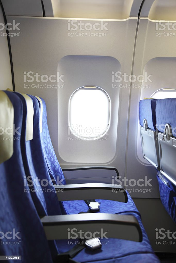 Window from a Commercial Airplane stock photo