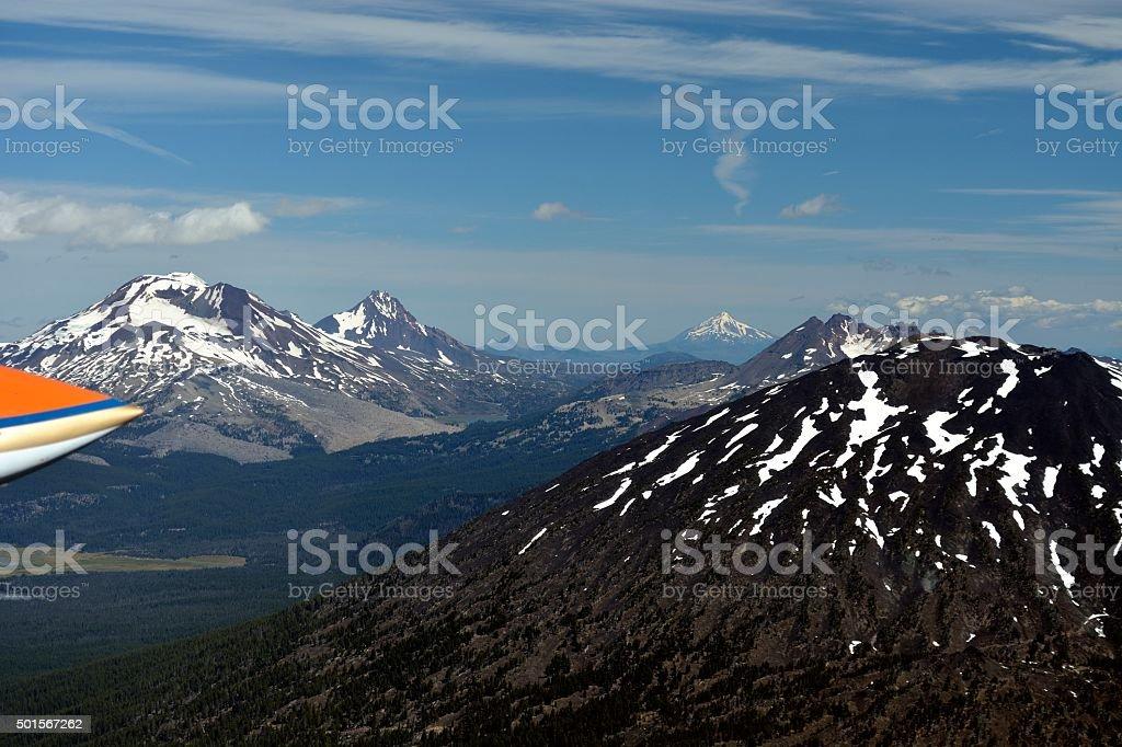 Window Full of Mountains stock photo