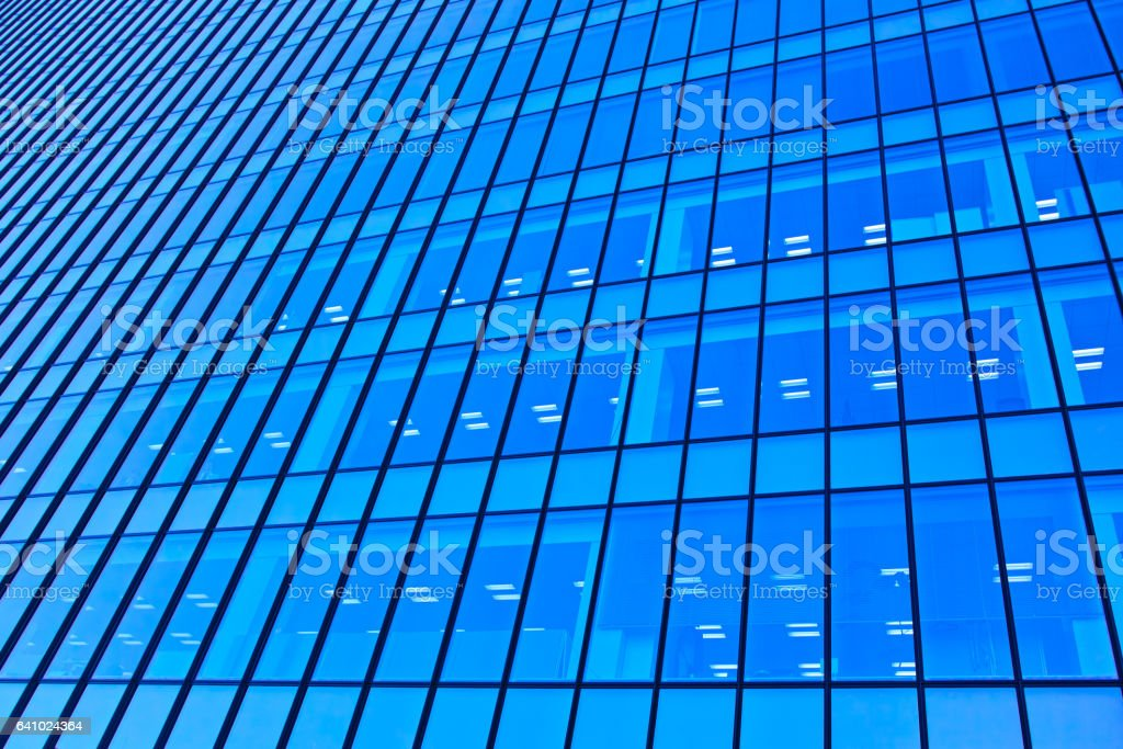 Window glass of office building stock photo