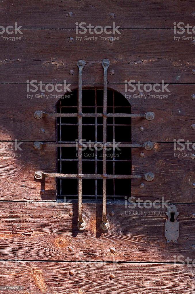 window grate in bellinzona switzerland stock photo