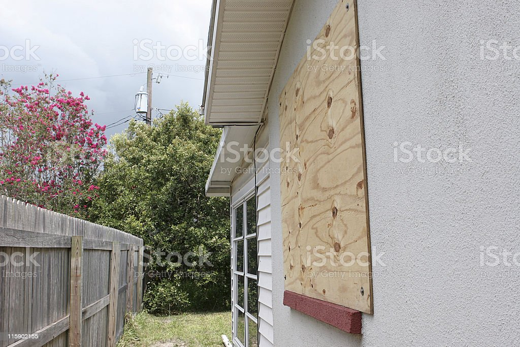 Window Hurricane Protection royalty-free stock photo