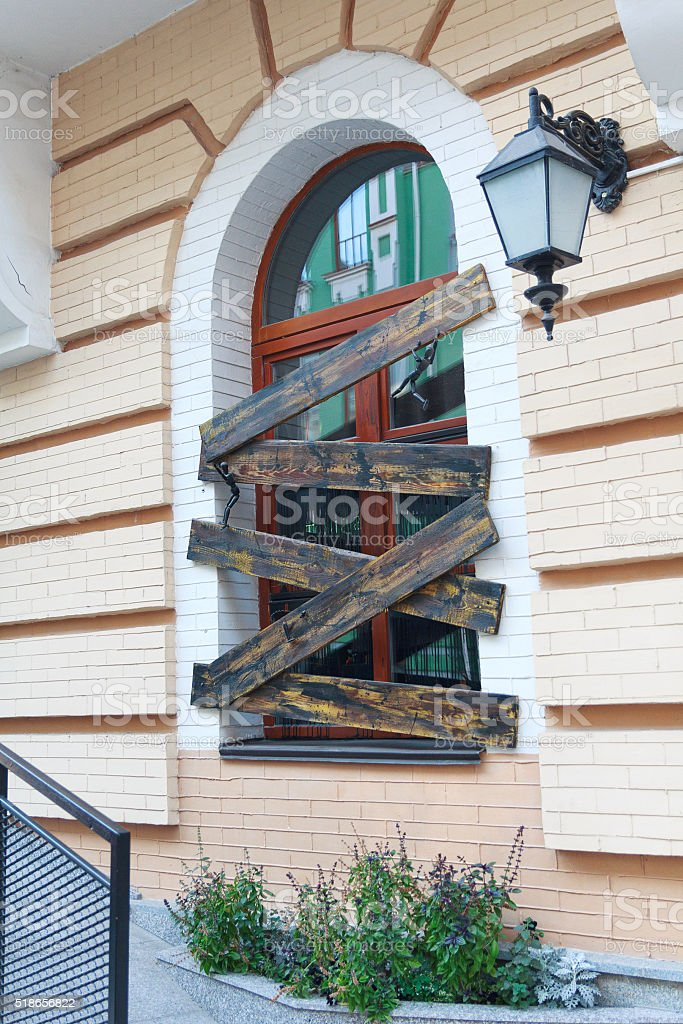 Window in a classic style. Architecture stock photo