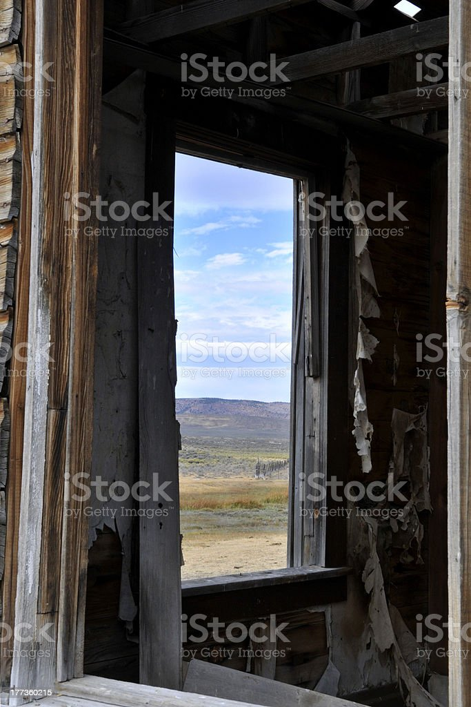 Window in an Abandoned House royalty-free stock photo