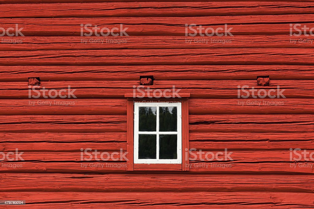 Window in an old swedish country house stock photo