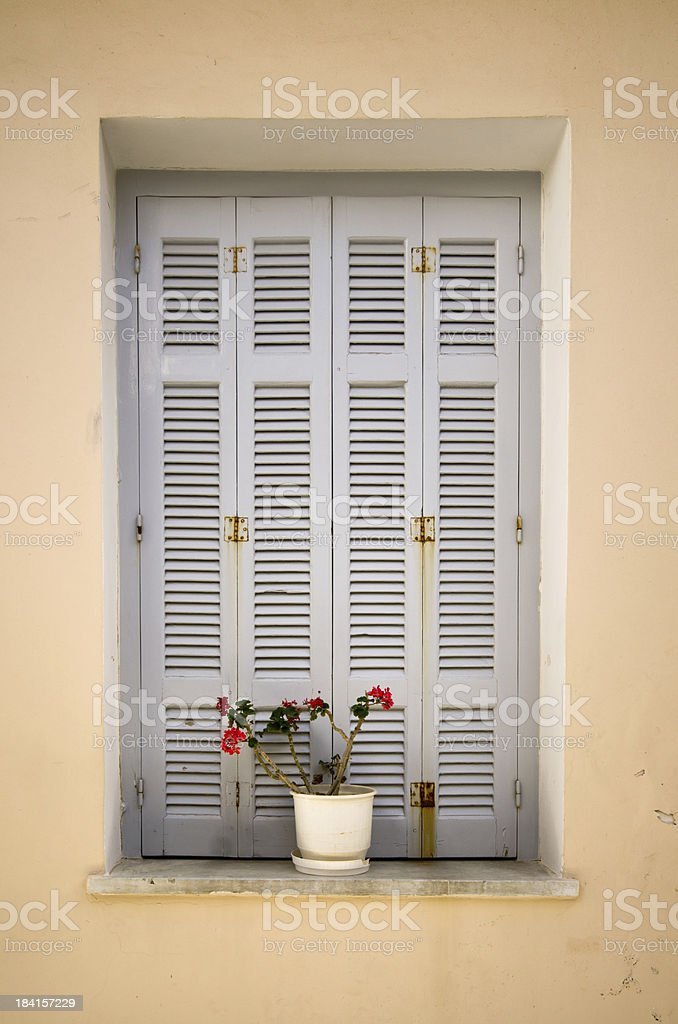 Window in Andros stock photo