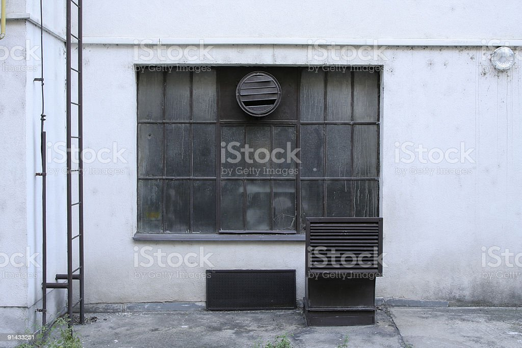 Window in back alley royalty-free stock photo