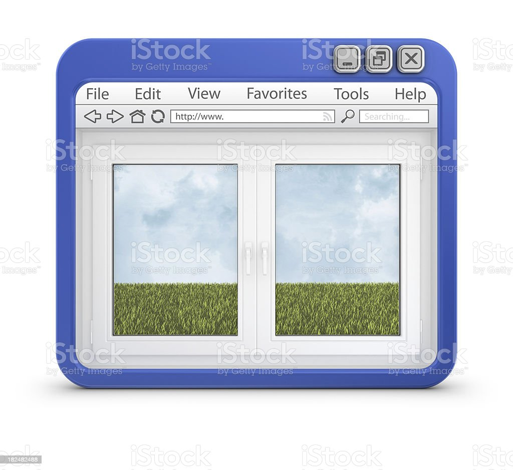 window in browser royalty-free stock photo