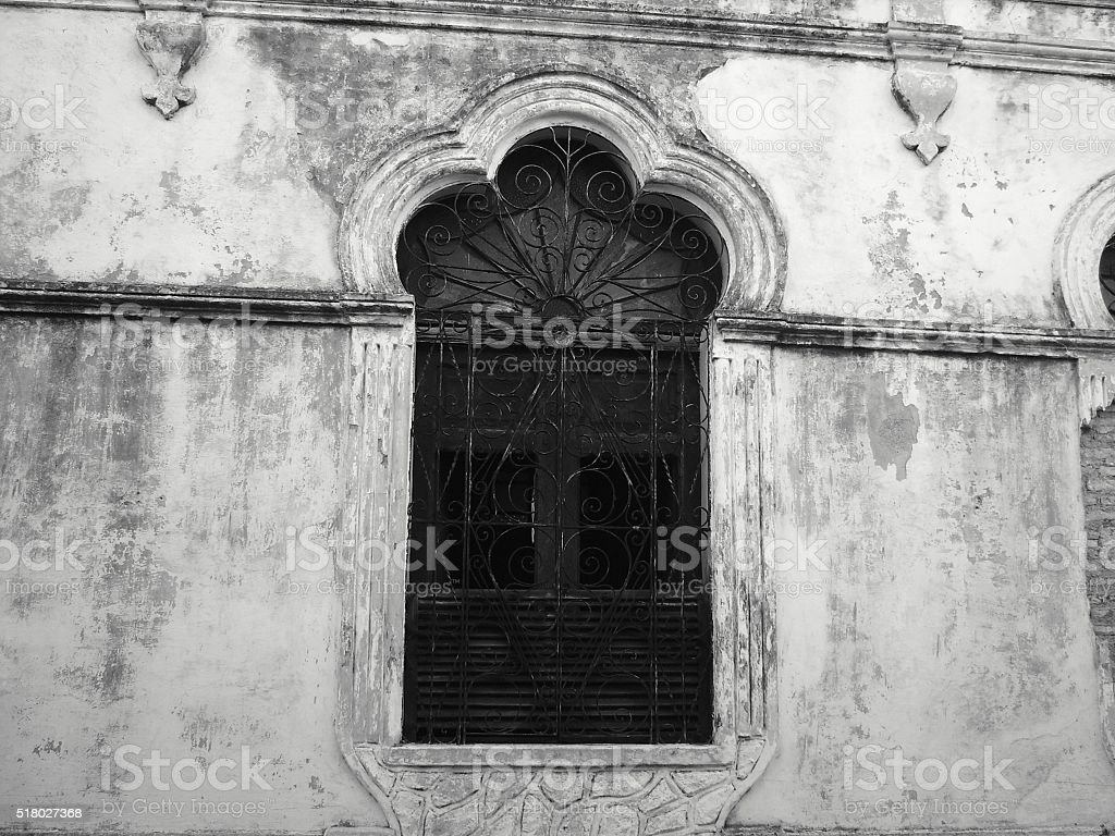Window in Camaguey, Cuba stock photo