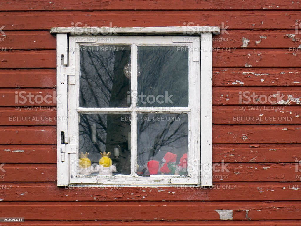 Window in Christiania stock photo