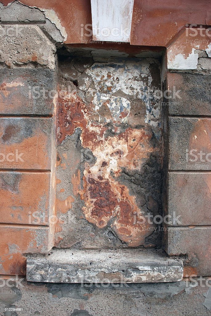 Window in concrete wall royalty-free stock photo