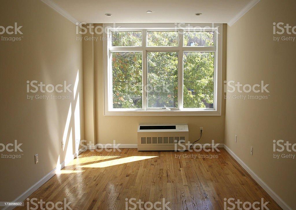 Window In Empty Room stock photo