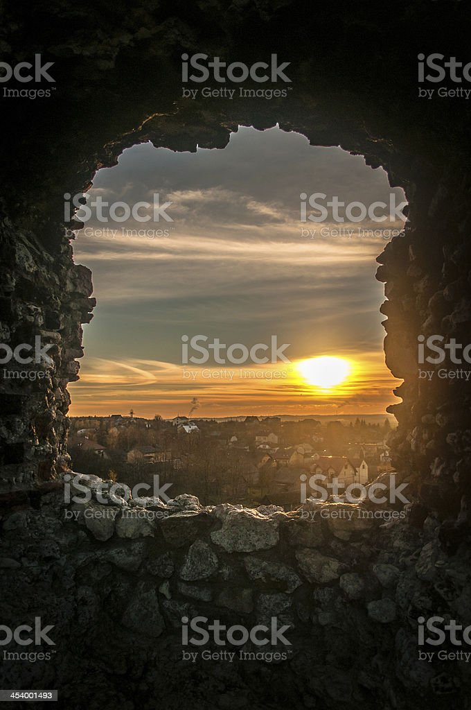 Window in Fortified Wall royalty-free stock photo