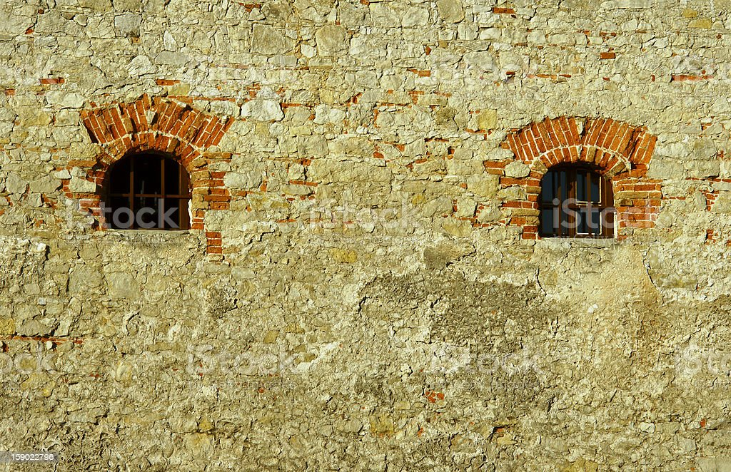 Window in medieval castle royalty-free stock photo
