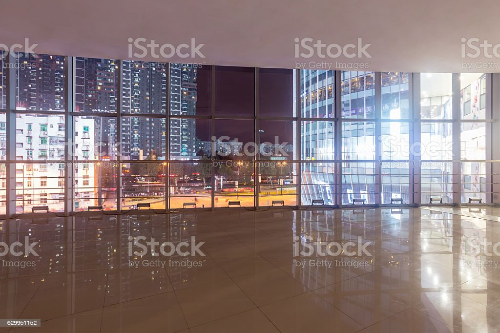 window in office building stock photo