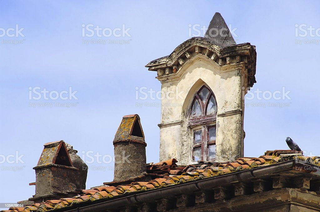 window in roof stock photo