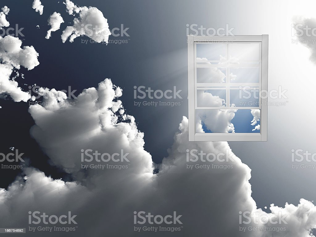 Window in sky royalty-free stock photo