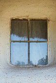 Window in the rural house in the second half of the nineteenth century