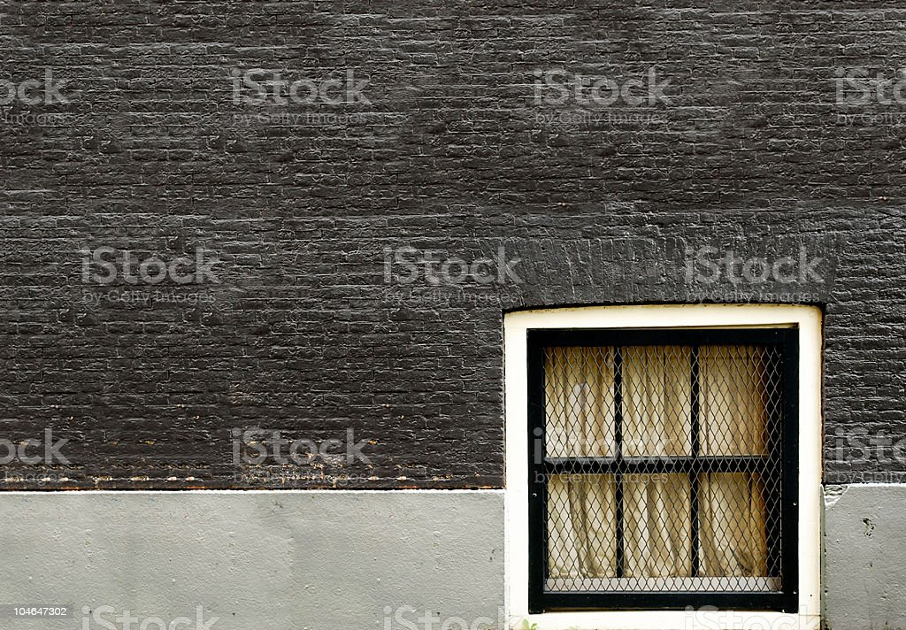 Window in the wall, basement royalty-free stock photo
