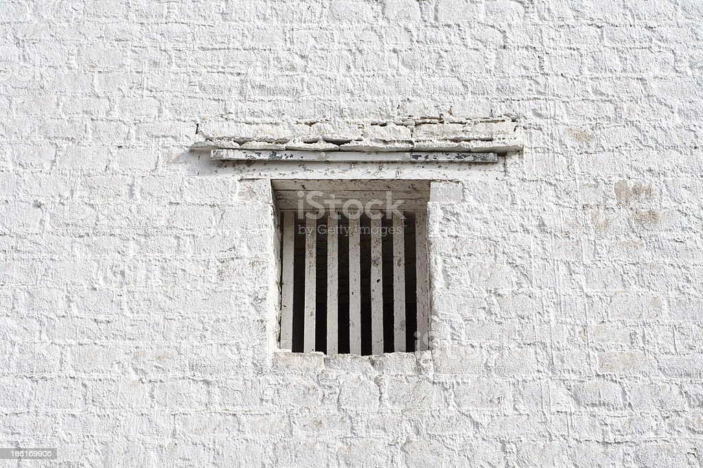 Window in the white wall royalty-free stock photo