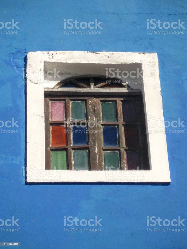window in time, historic old san juan stock photo