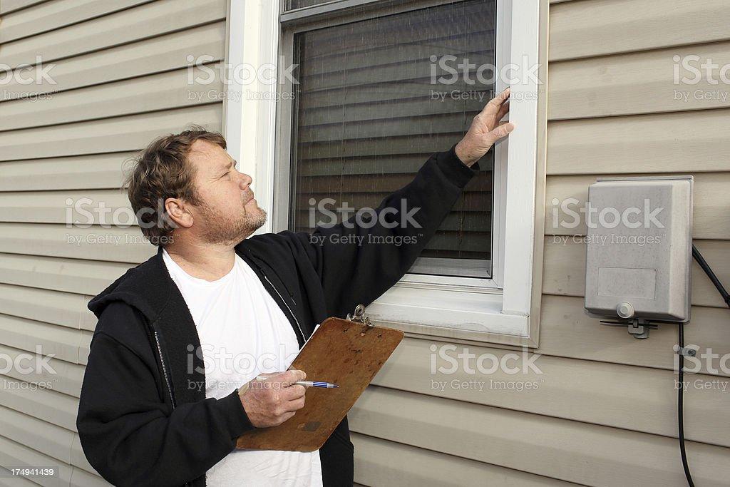 Window Inspection royalty-free stock photo
