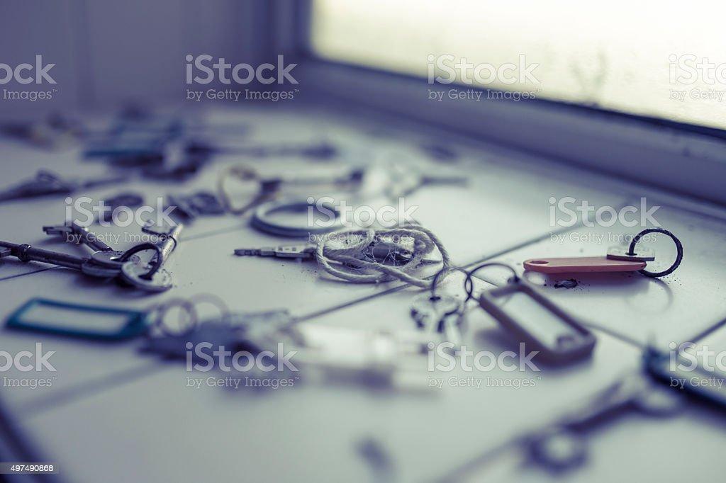 Window keys stock photo