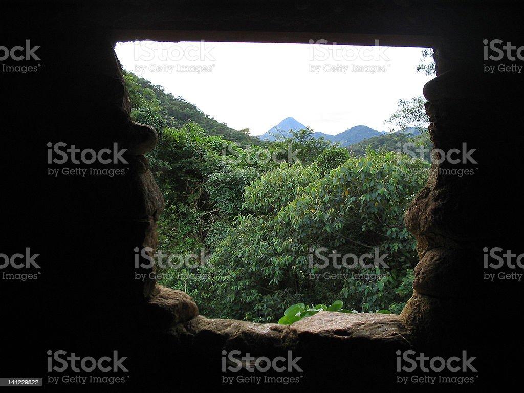 Window Montain royalty-free stock photo