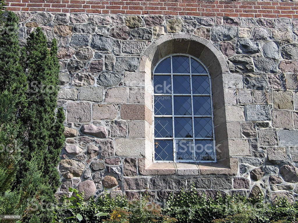 Window of a church royalty-free stock photo