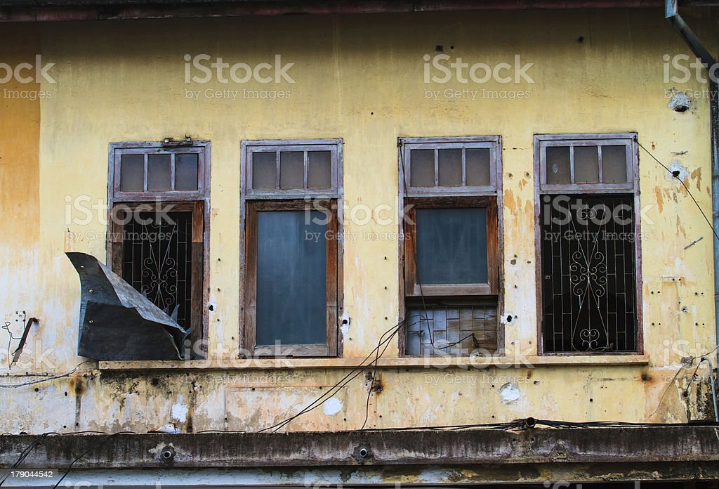 Window of a old wooden house royalty-free stock photo