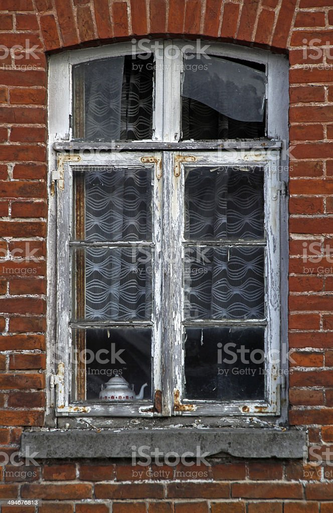 Window of an old house stock photo