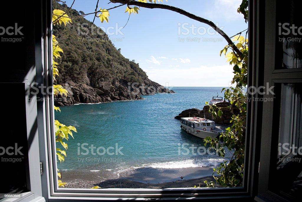 Window of Camogli stock photo