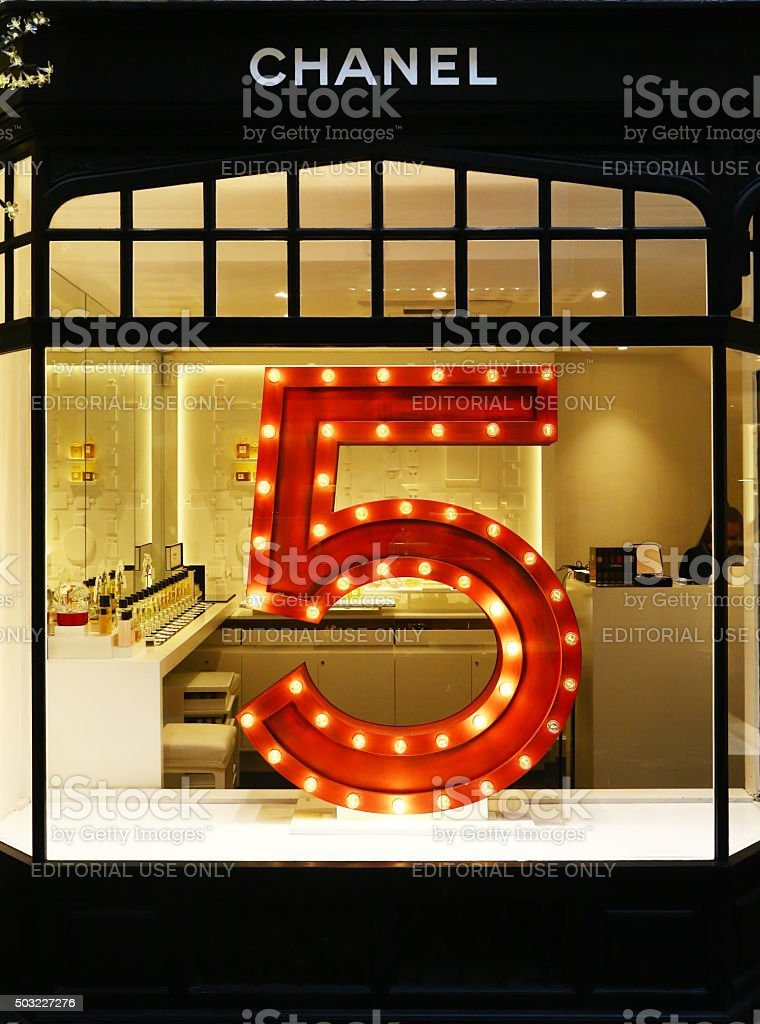 Window of Chanel in Burlington Arcade, London stock photo