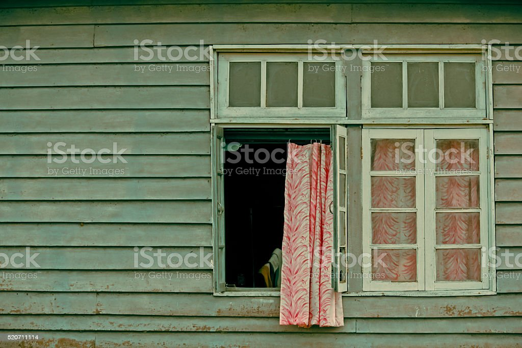 window of Forest Rest Hous stock photo