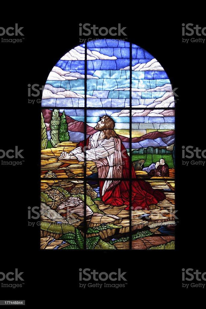 window of jesus stock photo