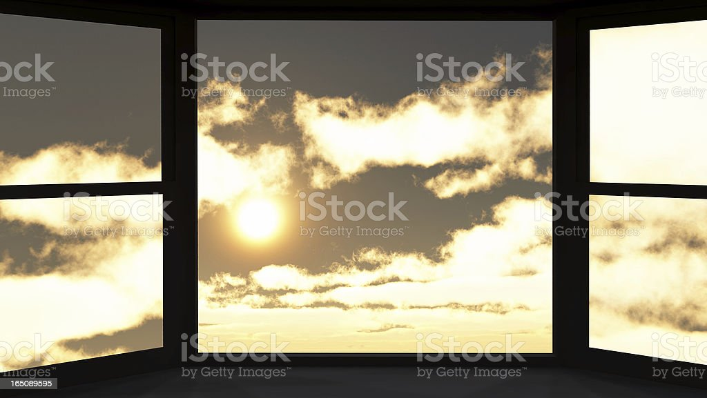 Window of opportunity stock photo