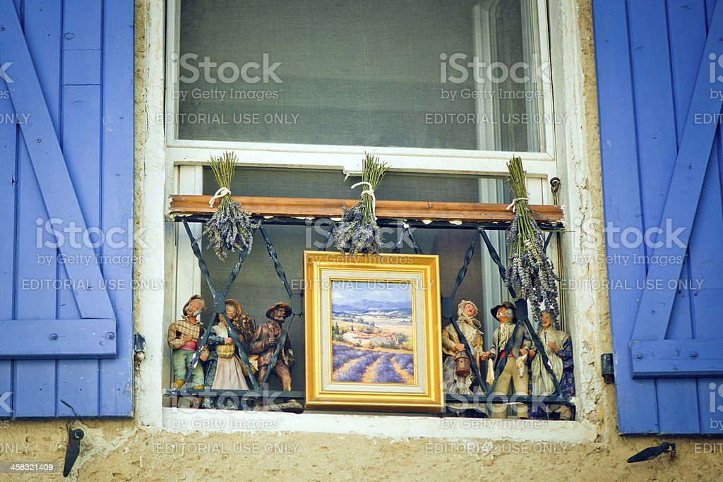 Window of Provence stock photo