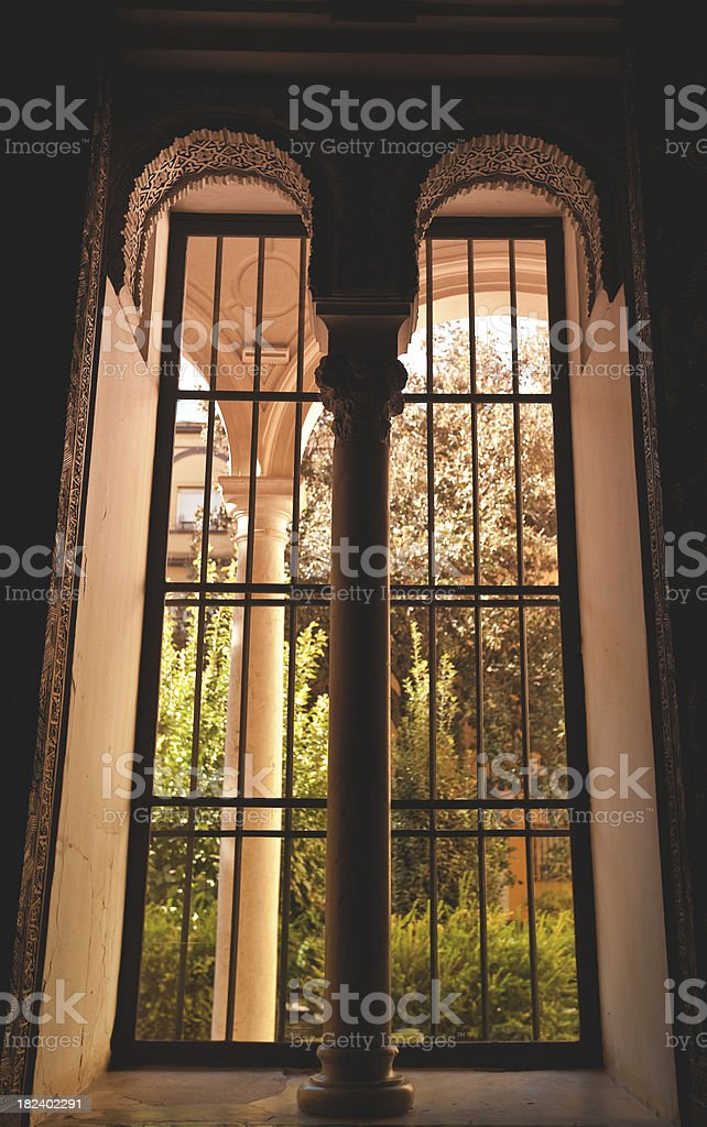 window of the palace royalty-free stock photo