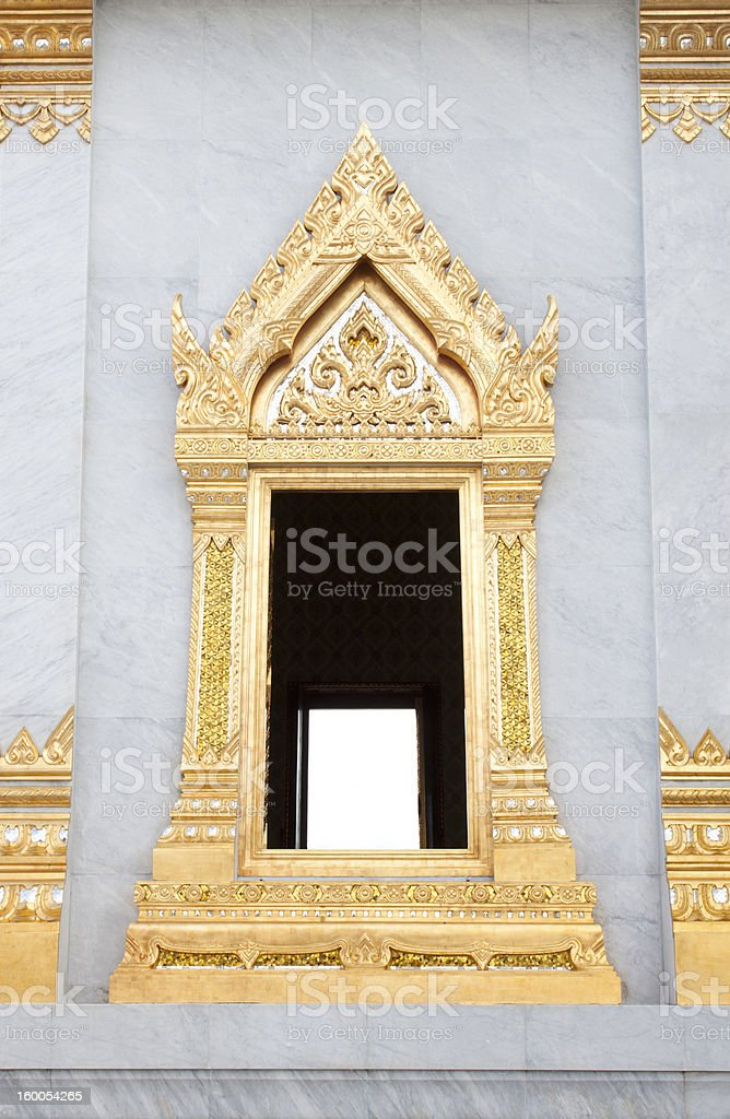 Window of Wat Traimit stock photo