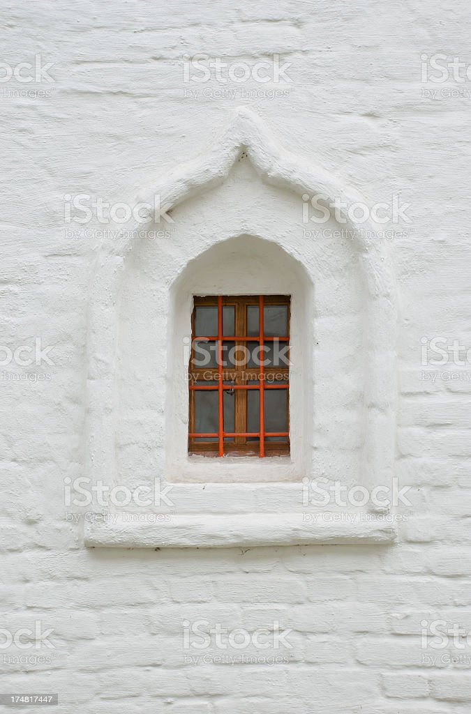 Window on a White Wall royalty-free stock photo
