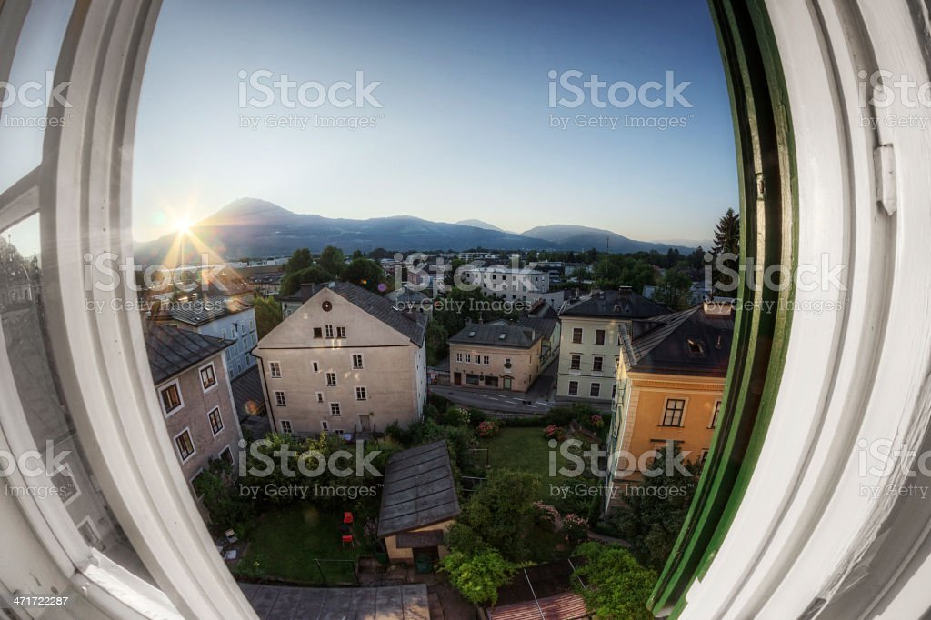 Window on Historic Europe royalty-free stock photo